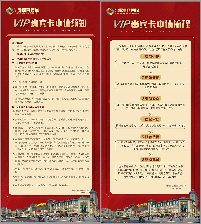 地产VIP贵宾卡流程易拉宝CDR源文件插图