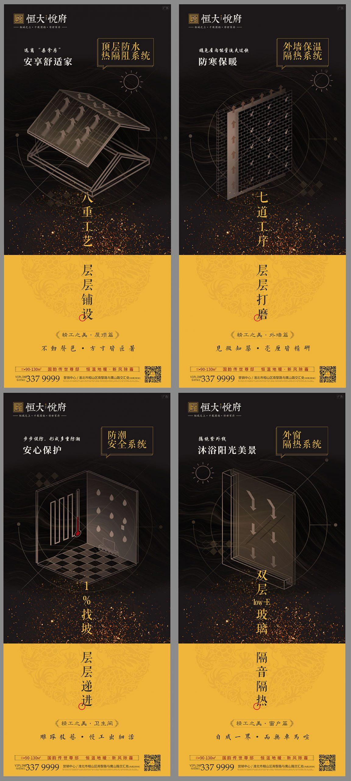 房地产建筑工艺工法系列海报CDR源文件插图