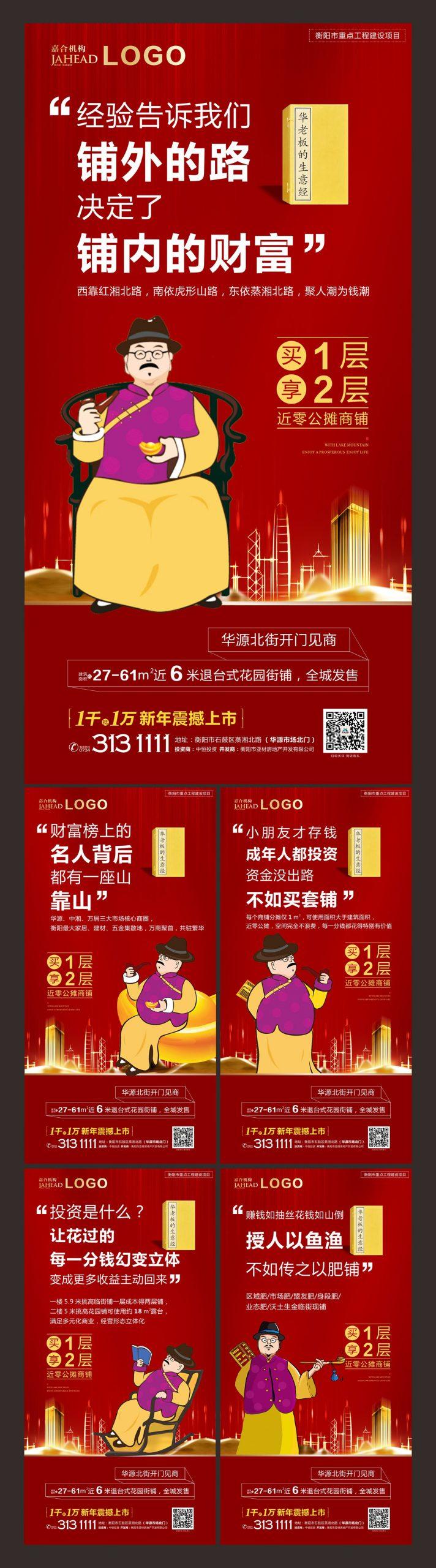 商业地产商铺招商海报系列CDR源文件插图