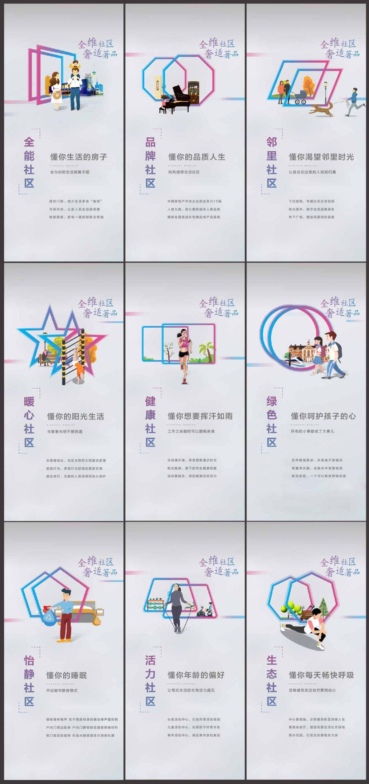 房地产社区配套系列海报AI源文件插图