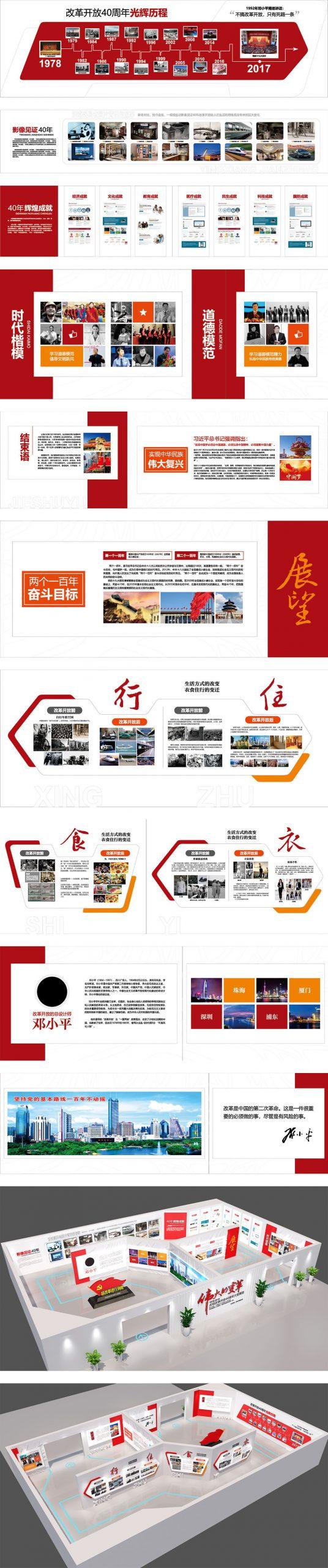 党建文化墙展馆设计CDR源文件插图