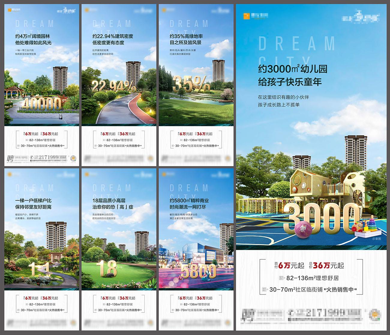 房地产园林低密住宅卖点海报PSD源文件插图
