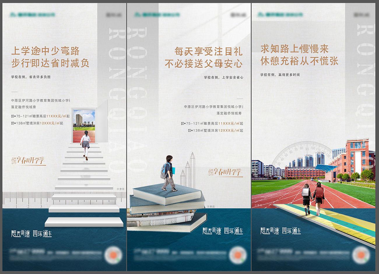 地产学区房价值点海报AI+PSD源文件插图