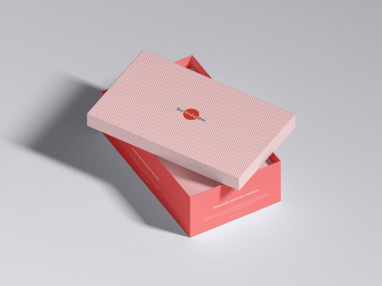 鞋盒包装模型样机PSD源文件插图