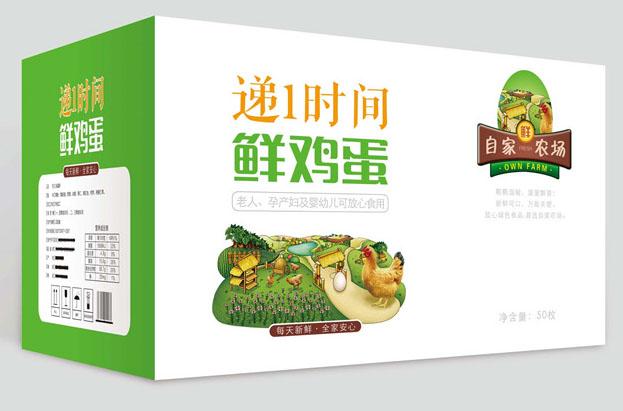 鲜鸡蛋鸡蛋外包装箱设计2 PSD源文件插图